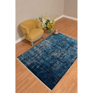 "Westfield Home Moravia Nile Distressed Midnight Blue Runner Rug - 2'7"" x 7'6"" (As Is Item)"