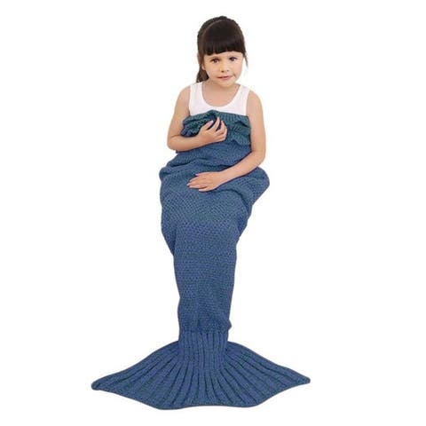 Knitted or Fleece Mermaid Tail Blanket - Child Size