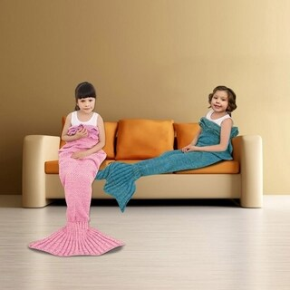 Knitted or Fleece Mermaid Tail Blanket - Child Size (More options available)