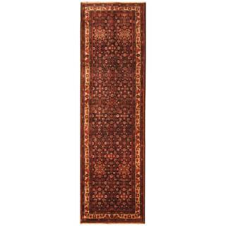 Handmade Herat Oriental Persian Hand-Knotted Tribal Hamadan Wool Runner (4' x 13'4)