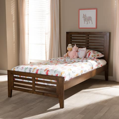 Mission Wood Platform Bed by Baxton Studio