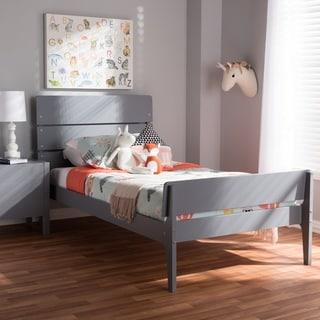 Taylor & Olive White Oak Wood Twin-size Platform Bed