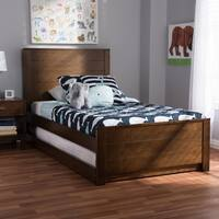 Taylor & Olive Dunlap Wood Twin-size Bed with Trundle