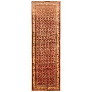 Handmade Herat Oriental Persian Hand-Knotted Tribal Hamadan Wool Runner (4' x 12')