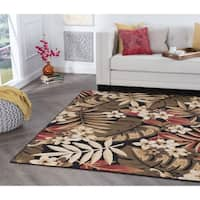 Alise Rugs Hamilton Transitional Floral Area Rug - 9'3 x 12'6