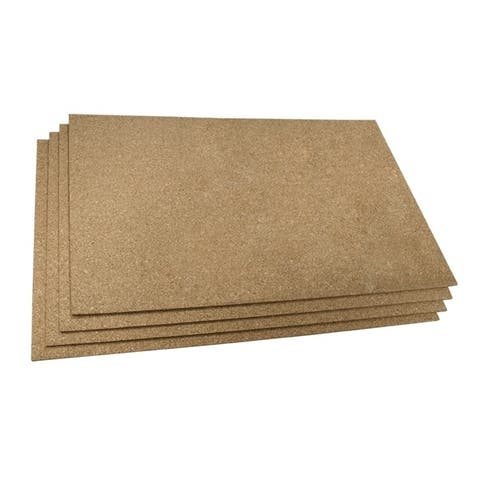 """WarmlyYours Cork Insulating Underlayment (24"""" x 36"""" x 6mm) Pack of 4 Sheets"""
