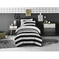 Mini Mod Striped Polka Dot Comforter Set