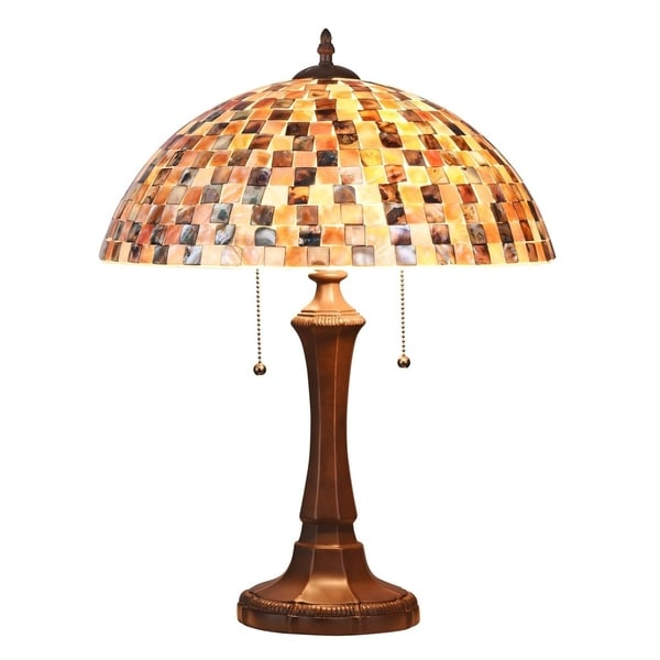 Chloe Tiffany Style 2-light Dark Bronze Table Lamp