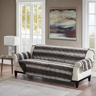 Madison Park Marselle Tip Dyed Long Faux Sofa Protector