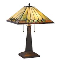 Chloe Tiffany Style 2-light Blackish Bronze Table Lamp