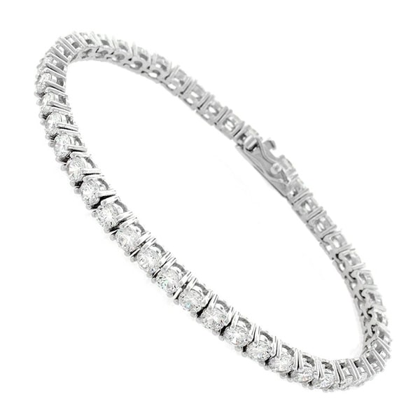 Shop Sterling Silver 3mm Tennis Chain Crystal Clear CZ Stone