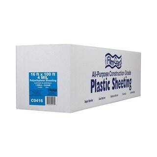 Berry Plastics Film-Gard Plastic Sheeting 4 mil x 16 ft. W x 100 ft. L Polyethylene Clear