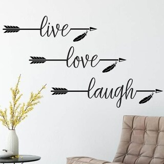 Live Love Laugh Vinyl Wall Decal