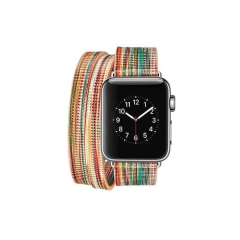 Colorful Wraparound Replacement Band for Apple Watch Series 1,2,&3
