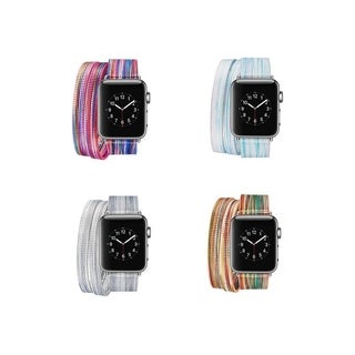Colorful Wraparound Replacement Band for Apple Watch Series 1,2,&3 (More options available)