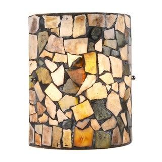 Link to Chloe 1-light Black/Stone Glass Wall Sconce Similar Items in Sconces