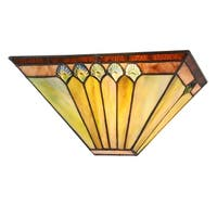 Chloe Tiffany Style 1-light Black/Stained Glass Wall Sconce