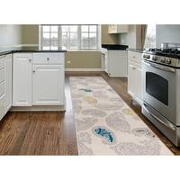 Contemporary Paisley Pattern Runner Rug Cream - 2' x 7'2""