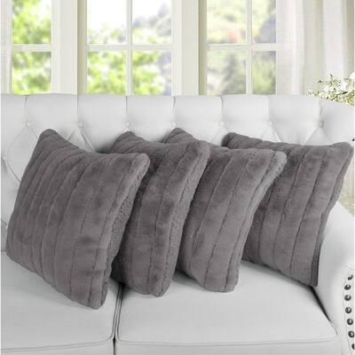 Grey Pillow Covers Throw Pillows