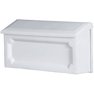 Solar Group Gibraltar Windsor Polypropylene Wall-Mounted Mailbox White 7-1/4 in. H x 4 in. L