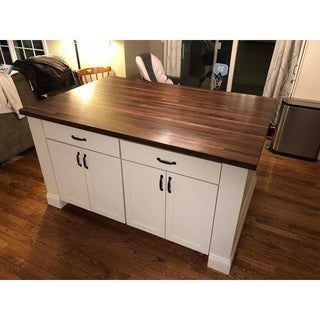 "Forever Joint Walnut 36"" x 72"" Butcher Block Kitchen Island Top"