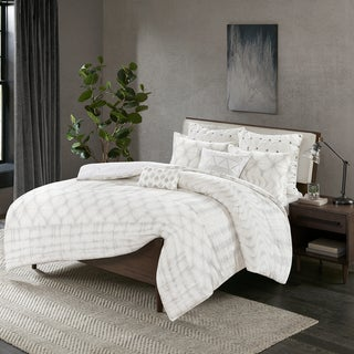 Carson Carrington Elva Grey Cotton 3-piece Duvet Cover Set