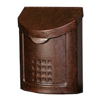 Solar Group Gibraltar  Lockhart  Steel  Wall-Mounted  Locking Mailbox  Copper  12-1/4 in. H x 5 in. L