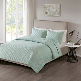 510 Design Nash Seafoam Quilted 3-piece Coverlet Set