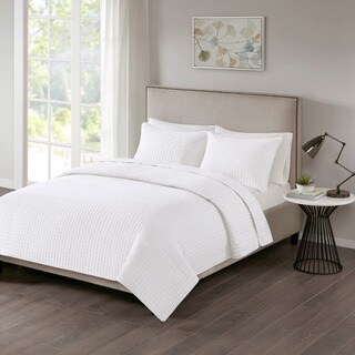 510 Design Nash White Quilted 3-piece Coverlet Set (2 options available)