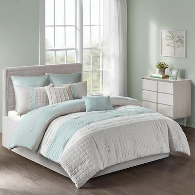 510 Design Irvine Seafoam/ Grey 8-piece Comforter Set