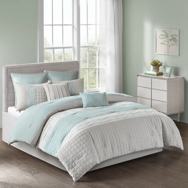 Shop 510 Design Irvine Seafoam/ Grey 8-piece Comforter Set