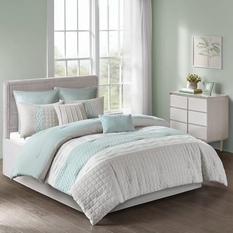 510 Design Irvine Seafoam/ Grey 8-piece Comforter Set