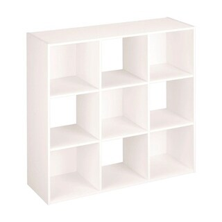 ClosetMaid 14-1/2 in. L x 44 in. H x 44 in. W 9 Cube Cubeical Organizer White