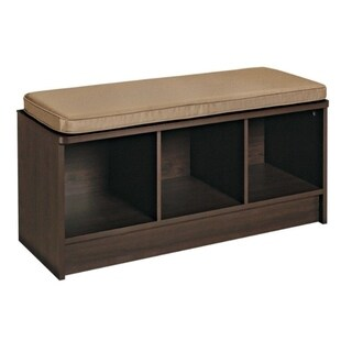 ClosetMaid 14 in. L x 18-1/2 in. H x 35-1/4 in. W Cubeical Bench Organizer Brown