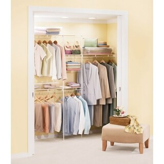 Rubbermaid 12 ft. H x 8 ft. W Wardrobe Organizer White