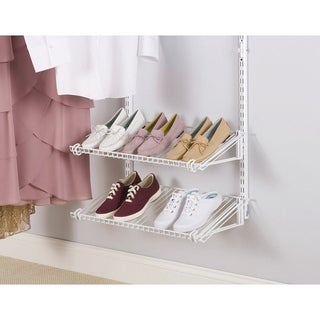 Rubbermaid 26 in. L x 10 in. H x 12 in. W Shoe Shelves White