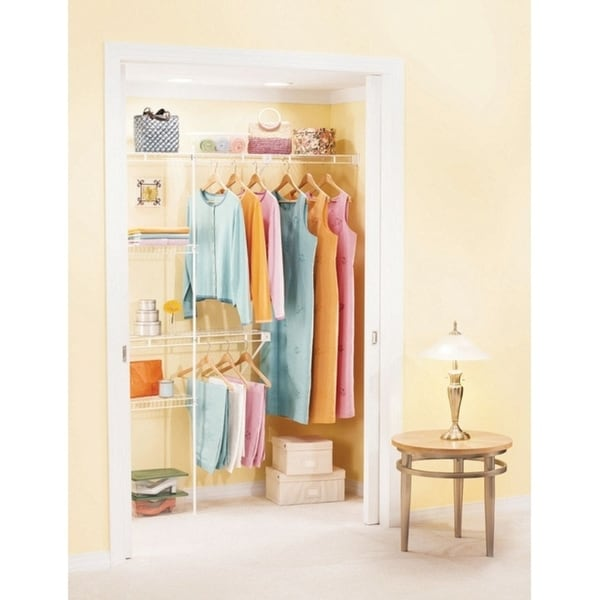 L X 8 Ft. H X 5 Ft. W Wardrobe Organizer White   Free Shipping Today    Overstock   20248546
