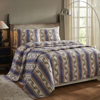 Marie CornFlower Blue 3-piece Quilt Set