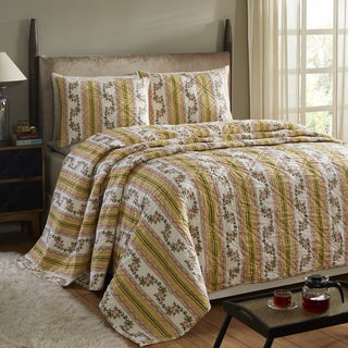 Marie Lemon Yellow 3-piece Quilt Set