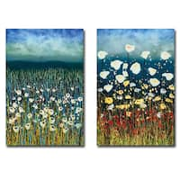 Poems in Blue & Peace at Night by Daniel Lager 2-piece Gallery Wrapped Canvas Giclee Art Set