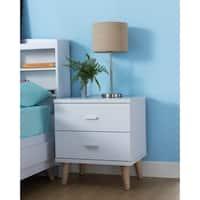 Bridgette I Modern White 2-drawer Nightstand
