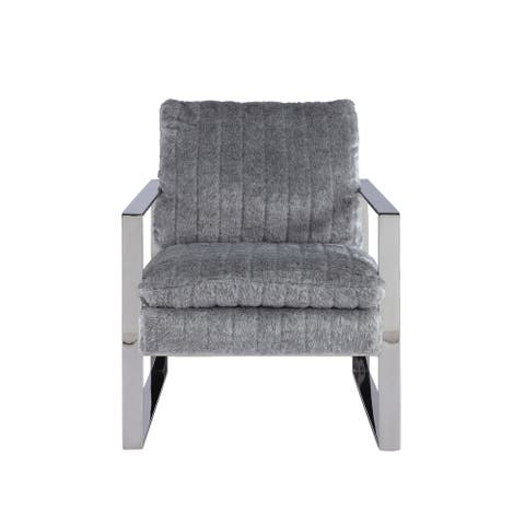 Somette Accent Arm Chair with Channel Back