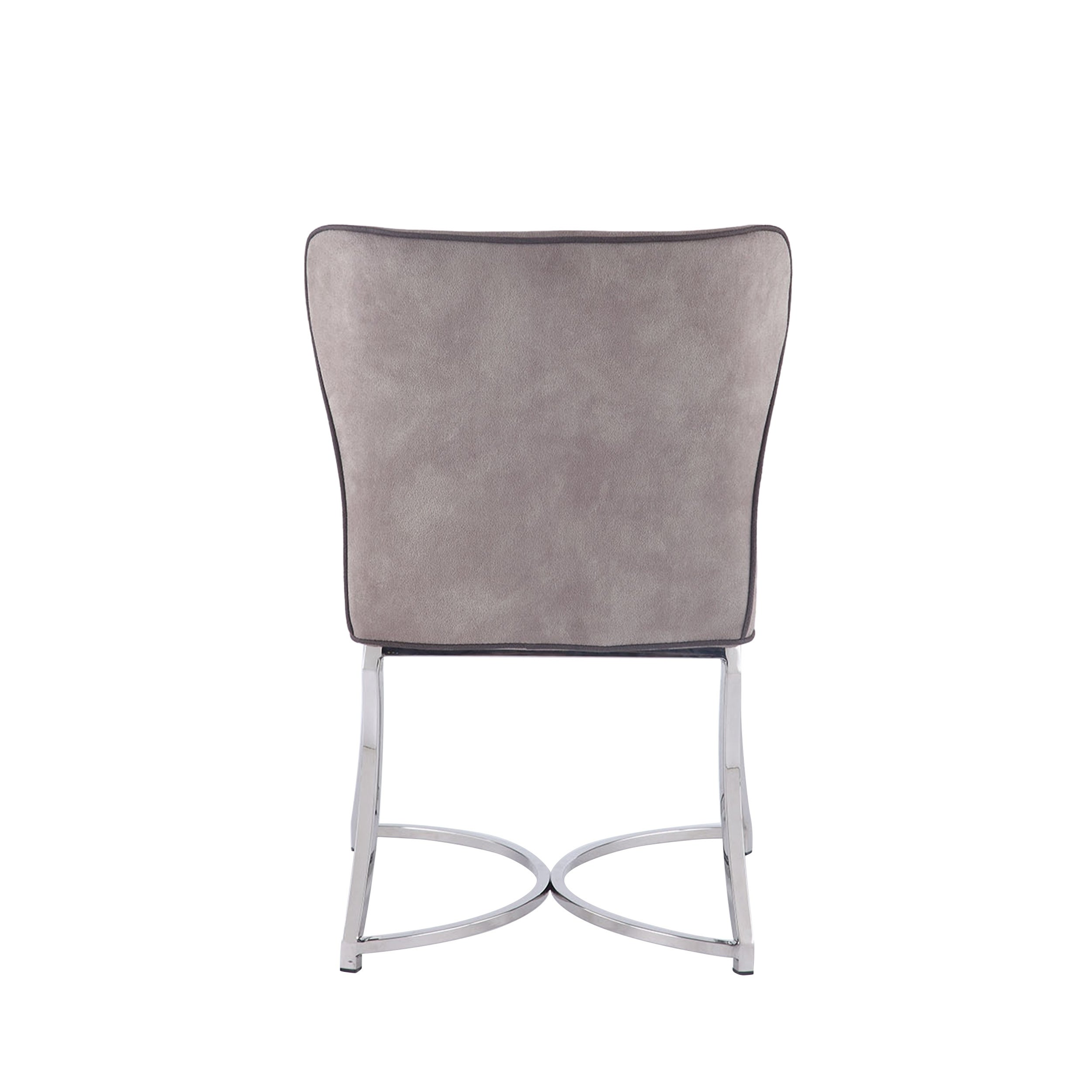 Sensational Somette Summer Mid Century Modern Curved Back Chair With Piping Set Of 2 Machost Co Dining Chair Design Ideas Machostcouk