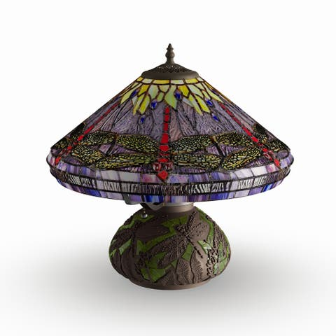 The Curated Nomad Pablo Tiffany-style Dragonfly Table Lamp