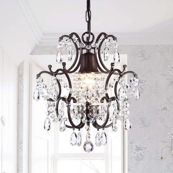 Clear Crystal Brown Base Chandelier