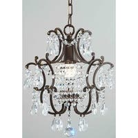 Silver Orchid Taylor Clear Crystal Brown Base Chandelier