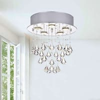 Silver Orchid Taylor Round 5-light Chrome Ceiling Chandelier