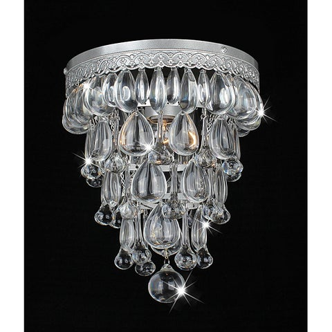 Silver Orchid Taylor Cone Shape Matte Silver Flushmount Ceiling Chandelier