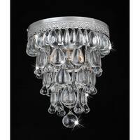 Silver Orchid Taylor Cone Shape Matte Silver Flushmount Ceiling Chandelier