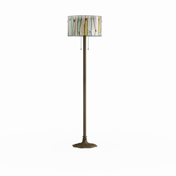 Copper Grove Laelia Tiffany-style Floor Lamp